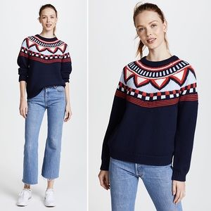 Tory Burch Sport Merino Fair Isle Sweater M NWT